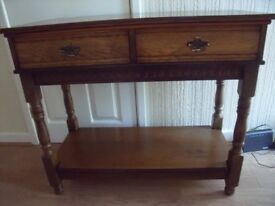Genuine OLD CHARM Hall Table / CONSOLE in Medium Oak