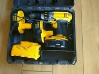 Dewalt 18V Cordless Combi Drill with accessories, Ashford,Kent