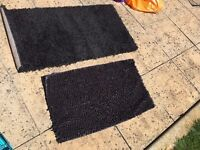1 non-slip bath rug with 1 bedroom rug