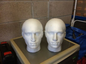 POLYSTYRENE FOAM MANNEQUIN DISPLAY HEADS MALE