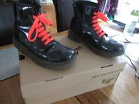 Girls patent leather Doc Marten boots - size 3 and in good condition