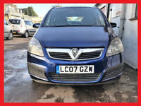 7 Seater-- 2007 Vauxhall Zafira 1.6 - New MOT - 92000 Miles -- Part Exchange OK --alike toyota verso