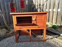 2-Tier Guinea pig/ Rabbit Hutch, with Fitted Weatherproof Cover