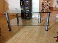 glass tv/ entertainment unit