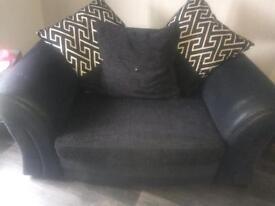 2 seater and small corner sofa