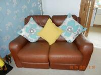 ONE 2 SEATER LEATHER SOFA