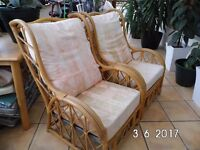 Two cane Conservatory chairs in very good condition.