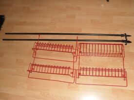 4 wire red shelves