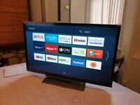BOXED Toshiba 24 inch smart hd led tv combi with built in dvd player, freeview and freeview play,