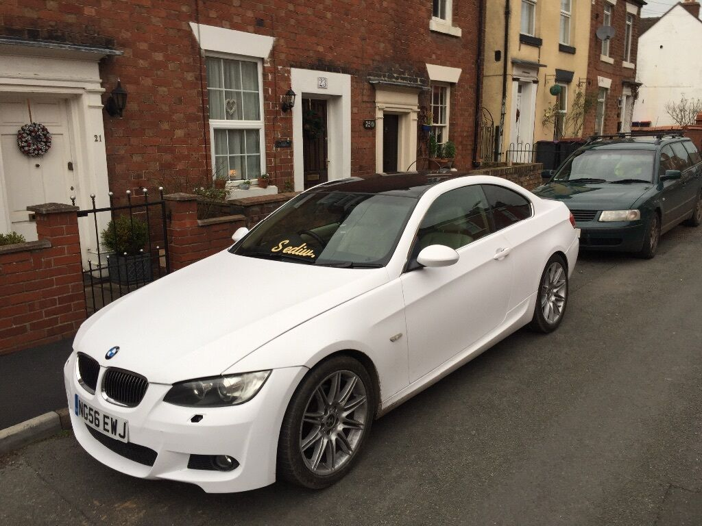 satin white bmw e92 325i automatic coupe in telford. Black Bedroom Furniture Sets. Home Design Ideas
