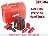 Draper Expert Self-Levelling Rotary Laser Level + £100 Worth Of Hand Tools