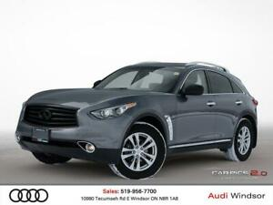 2015 Infiniti QX70 3.7L V6 AWD+LEAHTER+SUNROOF+BACK UP CAM