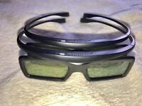 Samsung Active 3D glasses, 2x Brand New And 1x Used £10 each or all 3 for £25
