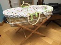 Moses Basket and un opened sheet