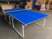 Blue Butterfly Compact 19 (full-size, compact storage) Indoor Table Tennis Table (Good condition)