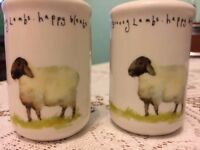 Ceramic White coloured Sheep design Salt and Pepper pots