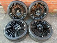 19'' GENUINE BMW G30 G31 5 SERIES 664 M SPORT GLOSS BLACK ALLOY WHEELS TYRES ALLOYS 5X112