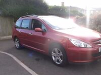 2--3 PEUGEOT SW HDI 2ltr TURBO DIESEL ESTATE WITH LOW MILEAGE AND LONG MOT