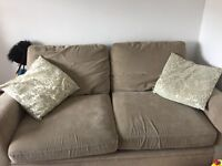 Well used beige Next sofabed- FREE
