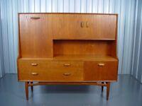 Retro G Plan Tall Sideboard Mid Century Vintage Furniture X