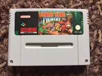 Snes donkey Kong country. Super Nintendo game