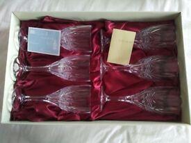 Galway Irish Crystal Tralee 6 Wine Goblets