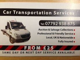 Car Transportation services/Vehicle collection/Recovery service