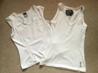 Two White Sports / Running Tops - G Star & Nike - Large / XL