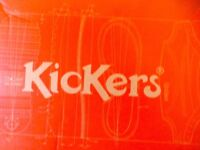 Kickers men's Kick hi shoes in red. Size 45. Brand new still in box