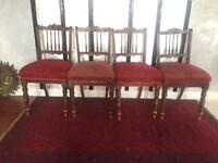 Set of 4 Edwardian dining chairs for restoration