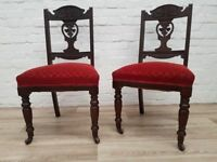 Pair Of Parlour Chairs (DELIVERY AVAILABLE)