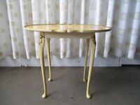 SMALL VINTAGE HAND PAINTED SHABBY CHIC STYLE SIDE TABLE