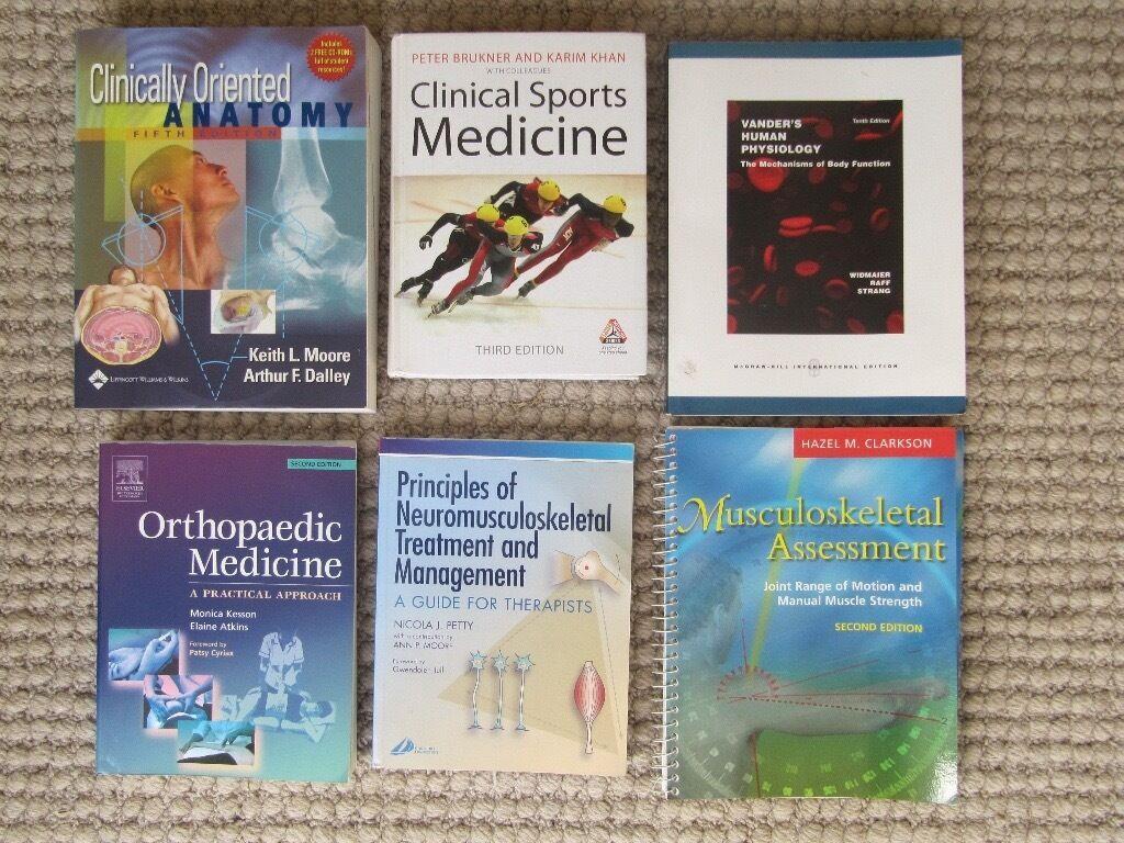 Clinical sports medicine, anatomy, orthopaedic 6 books bundle   in ...