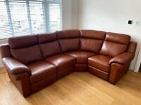 La-Z-Boy Leather Corner Sofa with powered recliners