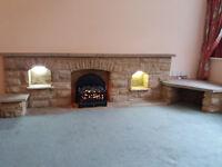 Large stone fireplace FREE