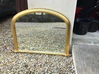 Overmantle, antique gold effect, John Lewis Mirror