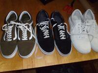 3 Pairs of Vans Footwear ALL Size 9