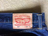 Brand new original Levi 501's, straight leg