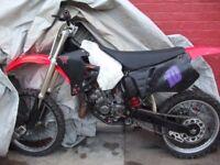 honda cr 125cc super evo scrambler bike
