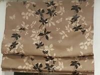 Cappucino floral roman blind