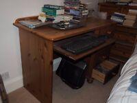 Home office computer desks, one pine, one modern beech style