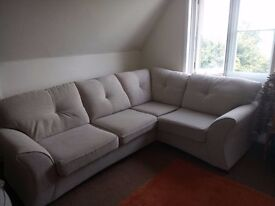 Corner sofa and matching cuddle chair