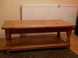Lovely hand made pine coffee table