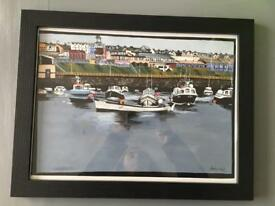 Painting Portrush Harbour