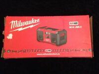 Brand new Milwaukee radio