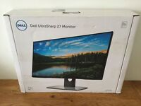 "Dell 27"" U2717D InfinityEdge IPS LED 2560x1440 Monitor - MINT CONDITION +Warranty"