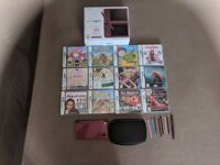 Nintendo DSI XL wine red as new plus 12 games