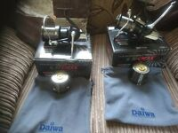 Carp fishing tackle 2 x basia 45 qdx reels