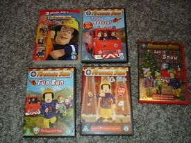 POSTMAN PAT AND FIREMAN SAM DVDS JOB LOT