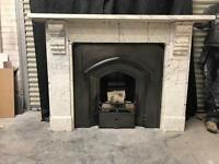 Antique Victorian Marble Fireplace Sorround
